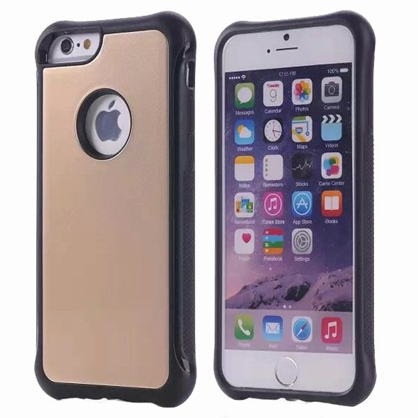 Armor Design Ultrathin TPE and PC Hard Hybrid Case for iPhone 6 Plus (Gold)