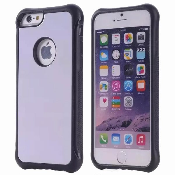Armor Design Ultrathin TPE and PC Hard Hybrid Case for iPhone 6 Plus (White)