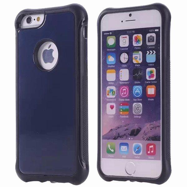 Armor Design Ultrathin TPE and PC Hard Hybrid Case for iPhone 6 Plus (Dark Blue)