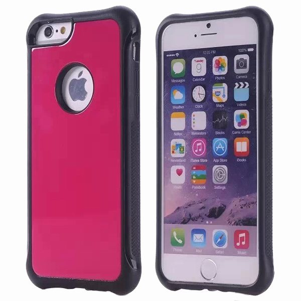 Armor Design Ultrathin TPE and PC Hard Hybrid Case for iPhone 6 Plus (Rose)