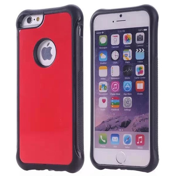 Armor Design Ultrathin TPE and PC Hard Hybrid Case for iPhone 6 Plus (Red)