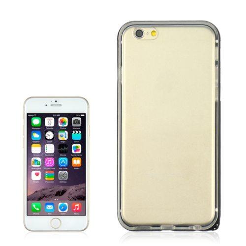 2 in 1 TPU + Ultra-thin Aluminium Alloy Frame case for iPhone 6 Plus (Black)