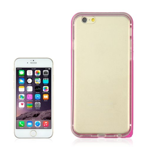 2 in 1 TPU + Ultra-thin Aluminium Alloy Frame case for iPhone 6 Plus (Rose)
