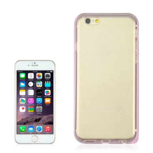 Angibabe 4.7 Inch 2 in 1 TPU + Ultra-thin Aluminium Alloy Frame case for iPhone 6 (Pink)