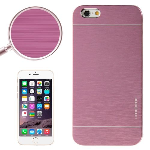 Brushed Texture Metal and Hard Hybrid Case Cover for iPhone 6 Plus (Purple)