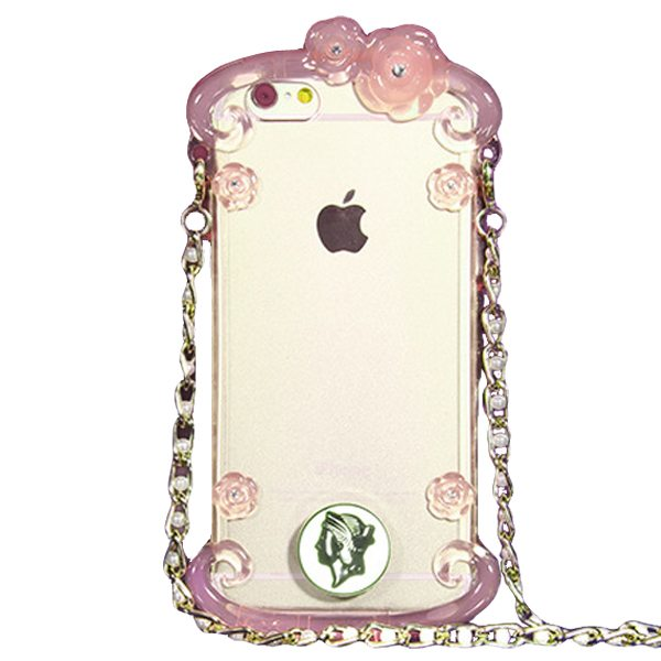 Perfume Bottle Pattern Protective Case for iPhone 6 Plus with Chain(Pink)
