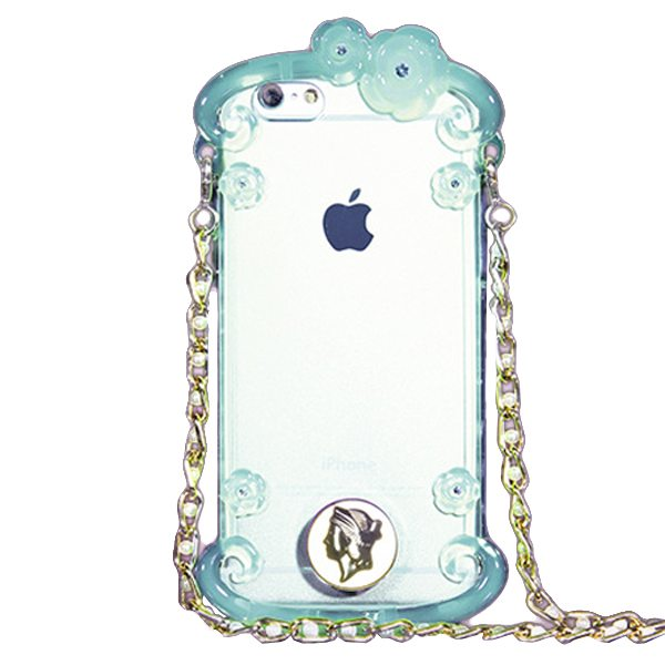 Perfume Bottle Pattern Protective Case for iPhone 6 Plus with Chain(Green)