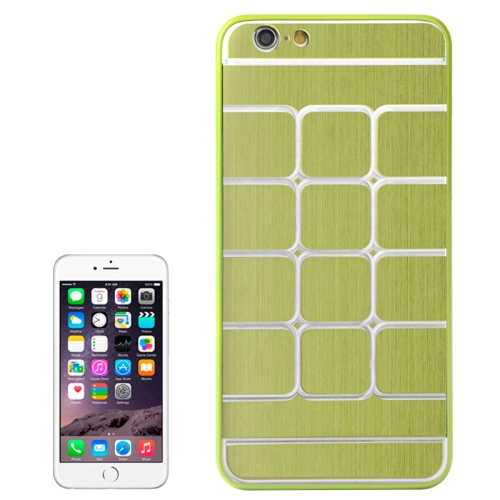 Brushed Texture Grids Dents Shockproof Hard Case Cover for iPhone 6 Plus (Green)