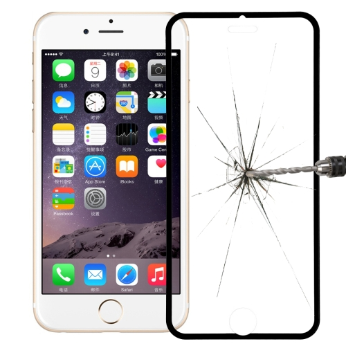Link Dream Premium 0.33mm Tempered Glass Screen Protector with Holder for iPhone 6 Plus (Black)