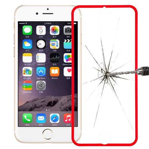 Link Dream Premium 0.33mm Tempered Glass Screen Protector with Holder for iPhone 6 Plus (Red)