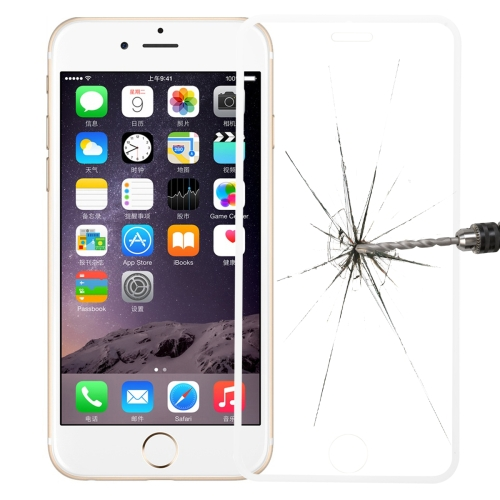Link Dream Premium 0.33mm Tempered Glass Screen Protector with Holder for iPhone 6 Plus (White)