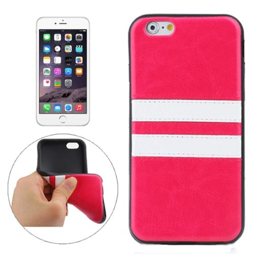 New Pattern PU Leather Coated TPU Skin Protective Case for iPhone 6 Plus (Rose)