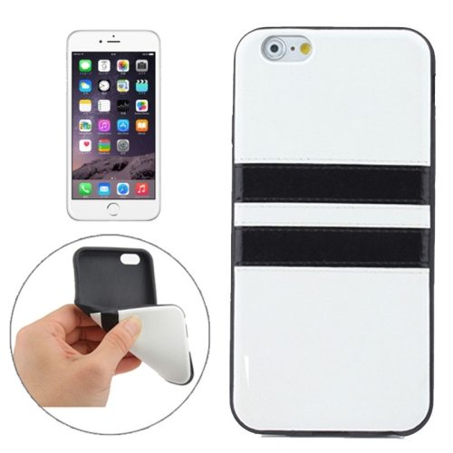 New Pattern PU Leather Coated TPU Skin Protective Case for iPhone 6 Plus (White)