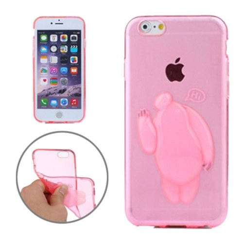 Baymax Relief Design Soft TPU Cover for iPhone 6 Plus (Pink)