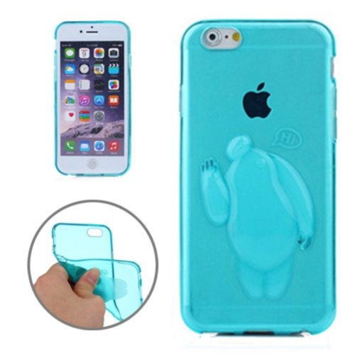 Baymax Relief Design Soft TPU Cover for iPhone 6 Plus (Blue)