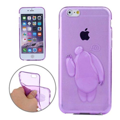 Baymax Relief Design Soft TPU Cover for iPhone 6 Plus (Purple)