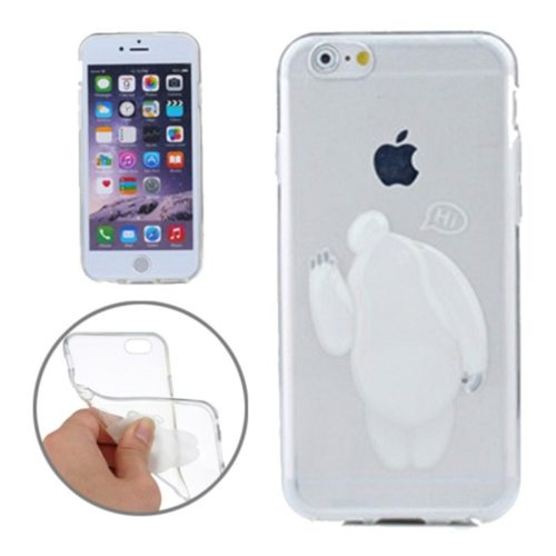 Baymax Relief Design Soft TPU Cover for iPhone 6 Plus (White)