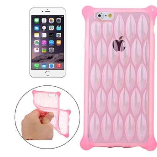 New Arrival Transparent Net-shaped Pattern TPU Protective Case for iPhone 6 Plus (Pink)