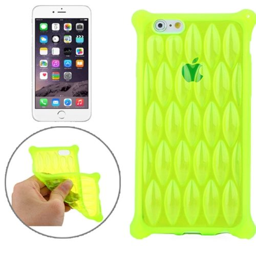 New Arrival Transparent Net-shaped Pattern TPU Protective Case for iPhone 6 Plus (Green)