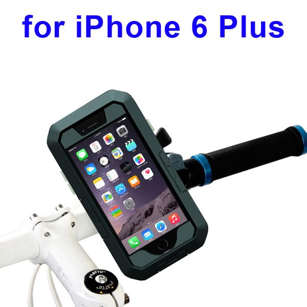 Newest Item Outdoor Sports Waterproof Case Bike Mount Holder for iPhone 6 Plus(Black)