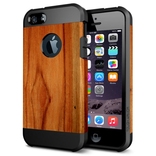 Various Designs 2 In 1 Pattern PC and TPU Armor Hard Case for iPhone 6 Plus (Wood Pattern)