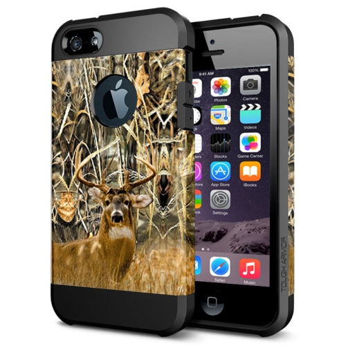 Various Designs 2 In 1 Pattern PC and TPU Armor Hard Case for iPhone 6 Plus (Deer Pattern)