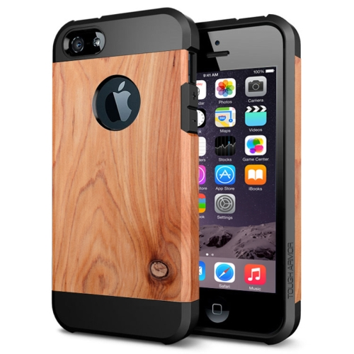 Various Designs 2 In 1 Pattern PC and TPU Armor Hard Case for iPhone 6 Plus (Pinewood Pattern)
