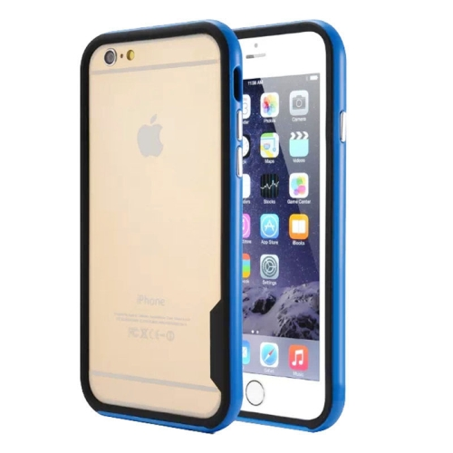 China Wholesale TPU + PC Combination Frame Case for iPhone 6 Plus (Blue)