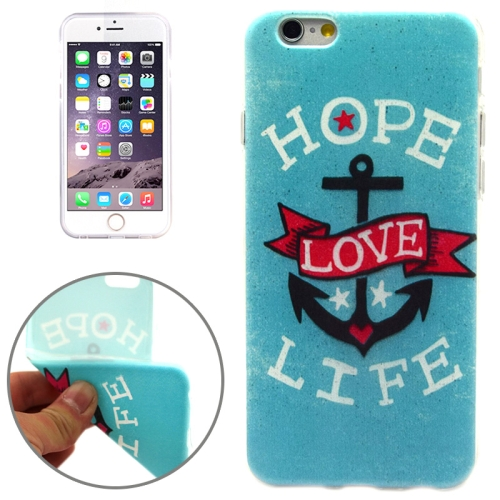 HOPE LOVE LIFE Pattern Soft TPU Protective Case for iPhone 6 Plus