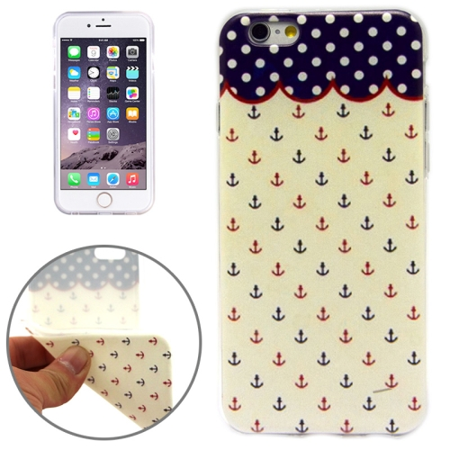 Anchor Pattern Soft TPU Protective Case for iPhone 6 Plus