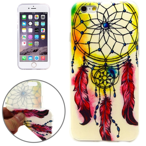National Style Retro Wind Bell Pattern Soft TPU Protective Case for iPhone 6 Plus