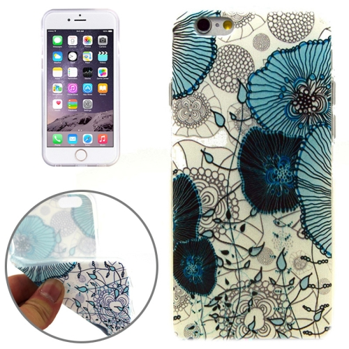 Flower Pattern Soft TPU Protective Case for iPhone 6 Plus