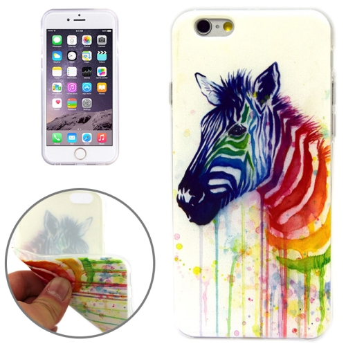 Zebra Pattern Soft TPU Protective Case for iPhone 6 Plus