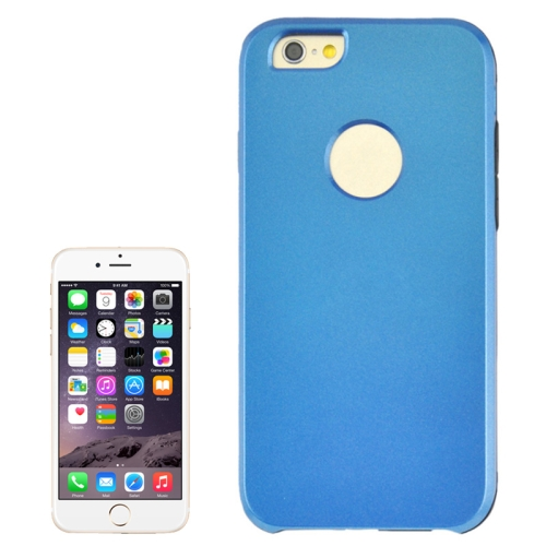 2 In 1 Pattern Touch Screen Front Cover and Frosted TPU Hybrid Case for iPhone 6 Plus (Blue)
