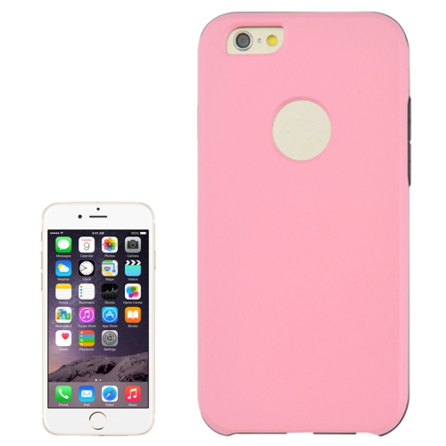 2 In 1 Pattern Touch Screen Front Cover and Frosted TPU Hybrid Case for iPhone 6 Plus (Pink)