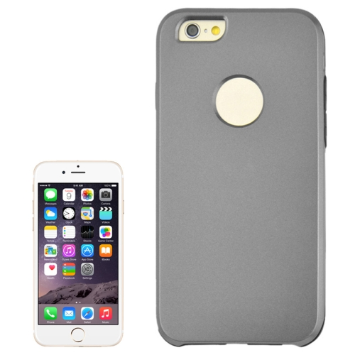 2 In 1 Pattern Touch Screen Front Cover and Frosted TPU Hybrid Case for iPhone 6 Plus (Grey)