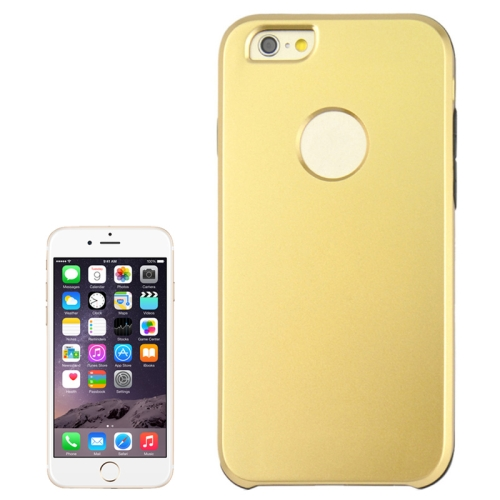 2 In 1 Pattern Touch Screen Front Cover and Frosted TPU Hybrid Case for iPhone 6 Plus (Gold)