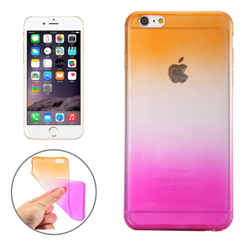 New Arrival Gradient Color Style Protective TPU Case for iPhone 6 Plus (Orange)