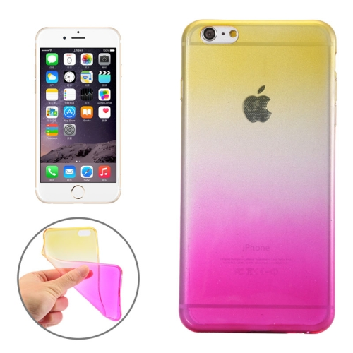 New Arrival Gradient Color Style Protective TPU Case for iPhone 6 Plus (Yellow)