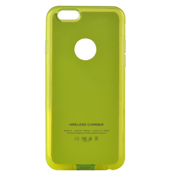 Hot Qi Wireless Charging Receiver Phone Case for iPhone 6 Plus (Green)