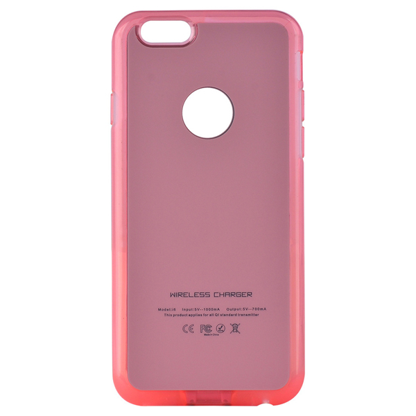 Hot Qi Wireless Charging Receiver Phone Case for iPhone 6 Plus (Pink)