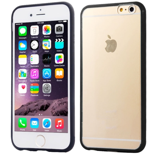 Protective TPU and Acrylic Transparent Hybrid Cover Case for iPhone 6 Plus (Black)