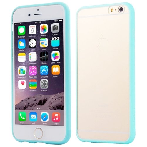 Protective TPU and Acrylic Transparent Hybrid Cover Case for iPhone 6 Plus (Baby Blue)