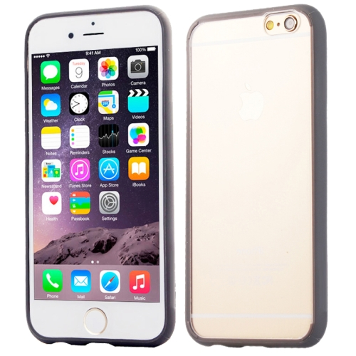 Protective TPU and Acrylic Transparent Hybrid Cover Case for iPhone 6 Plus (Gray)