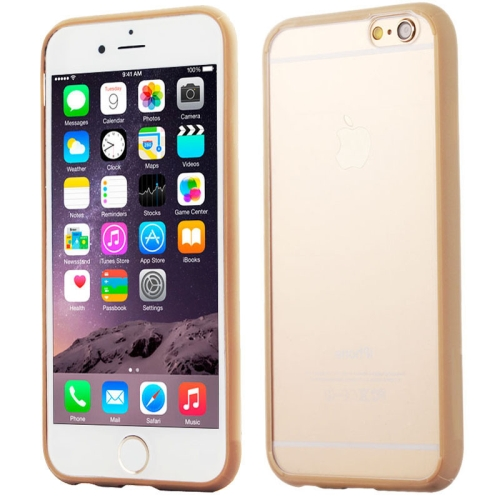 Protective TPU and Acrylic Transparent Hybrid Cover Case for iPhone 6 Plus (Gold)