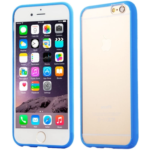 Protective TPU and Acrylic Transparent Hybrid Cover Case for iPhone 6 Plus (Blue)
