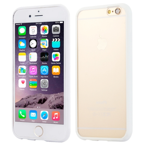 Protective TPU and Acrylic Transparent Hybrid Cover Case for iPhone 6 Plus (White)
