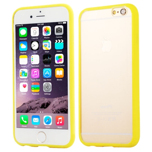 Protective TPU and Acrylic Transparent Hybrid Cover Case for iPhone 6 Plus (Yellow)