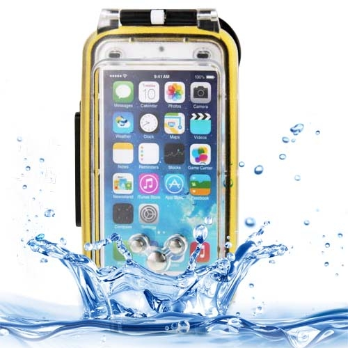 IPX8 Protective Dustproof Shockproof Waterproof Case for iPhone 6 Plus with Lanyard (Gold)