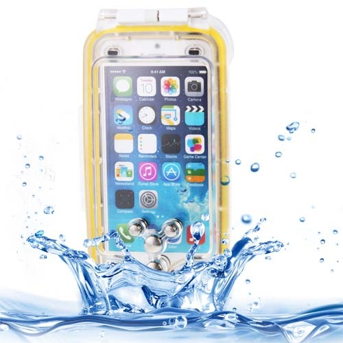 IPX8 Protective Dustproof Shockproof Waterproof Case for iPhone 6 Plus with Lanyard (Yellow)